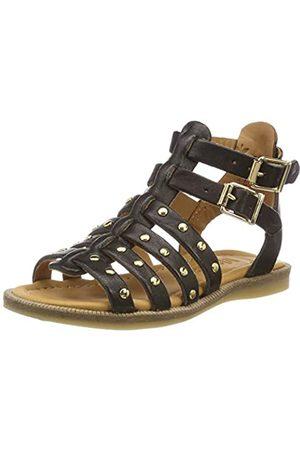 Bisgaard 70268.119, Sandalias de Gladiador para Niñas, (Black 205)