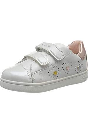 Geox B Djrock Girl B, Zapatillas para Bebés, (White/Lt Pink C0814)