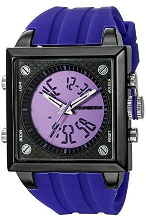 CEPHEUS CP900-633B - Reloj analógico y Digital de Cuarzo para Hombre con Correa de Silicona