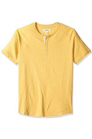 Goodthreads Marca Amazon - – Camiseta estilo Henley de algodón flameado de manga corta, ligera para hombre