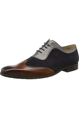 Melvin & Hamilton Rico 8, Zapatos de Cordones Oxford para Hombre, (Mid Brown Navy Stone Rio-Mid Brown-Suede Patinni Perfo-Navy-Rio-Stone-Mh-Rub-Navy-Lining-Rich Tan + Tex.)