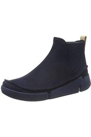 Clarks Tri Poppy, Zapatillas para Mujer, (Navy Combi Navy Combi)