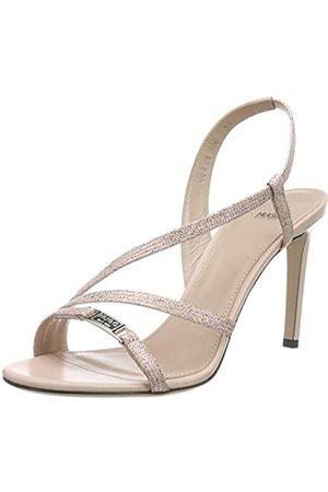 HUGO BOSS Mayfair Sandal 90-l, Sandalias de Talón Abierto para Mujer, (Peach Whip 694)
