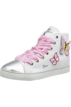 Geox Jr Ciak Girl D, Zapatillas Altas para Niñas, (White/Pink C0406)