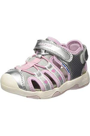 Geox Baby Multy Girl, Sandalias para Bebés, (Silver/Pink C0566)