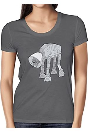 Nerdo Doggy AT-Damen T-Shirt Camiseta, Mujer