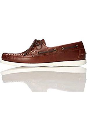 FIND Iconic Zapatos Náuticos Hombre, (Cognac)