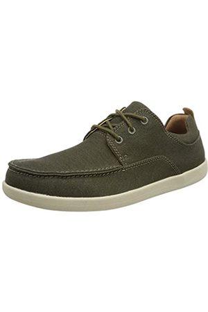Clarks Un Lisbon Lace, Zapatos de Cordones Derby para Hombre, (Olive Canvas-)