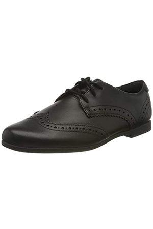 Clarks Scala Lace Y, Zapatos de Cordones Derby para Niñas, (Black Leather Black Leather)