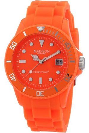 Madison Reloj Análogo clásico para Unisex de Cuarzo con Correa en Caucho U4503-51