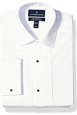 Buttoned Down Slim Fit Easy Care Bib-Front Spread-Collar Tuxedo Shirt Dress-Shirts