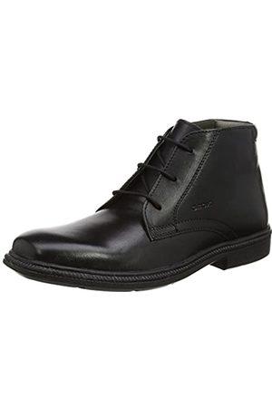 Geox Jr Federico A, Zapatos de Cordones para Niños, (Black)