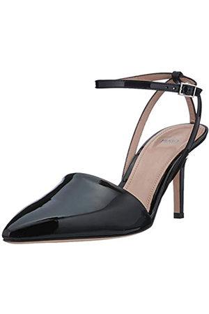 HUGO BOSS Laurel Sling 70-p, Zapatos con Tacon y Correa de Tobillo para Mujer, (Black 1)