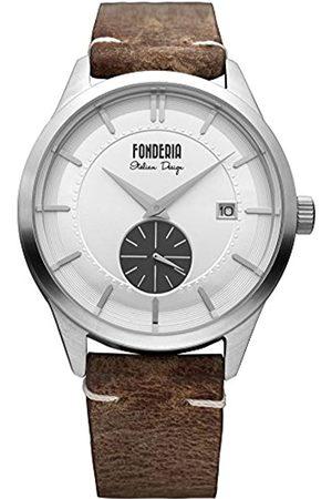 Fonderia Reloj Analógico para Hombre de Cuarzo con Correa en Cuero P-6A009USG