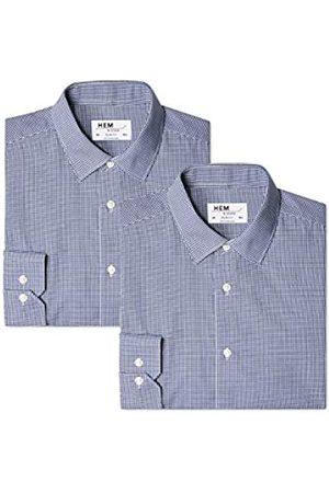 Hem & Seam Find. 2 Slim Fit, Camisa de Oficina para Hombre