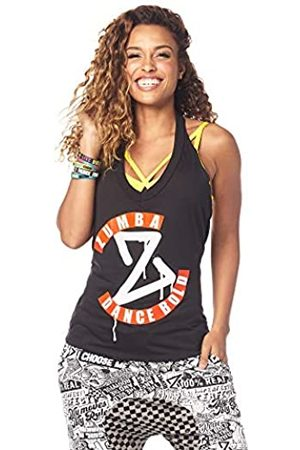 Zumba Fitness® Women's Fashion Print Loose Fit Workout Halter Top Tank, Mujer