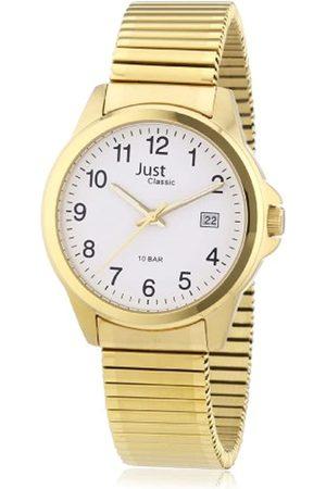 Just Watches Just Just - Reloj analógico de caballero de cuarzo con correa de acero inoxidable amarilla - sumergible a 100 metros