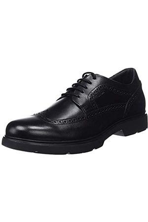 Geox U Arrall B, Zapatos de Cordones Brogue para Hombre, (Black C9999)