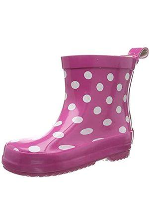 Playshoes Bota de Agua Puntos, Botas de Goma de Caucho Natural para Niñas, (Pink 18)