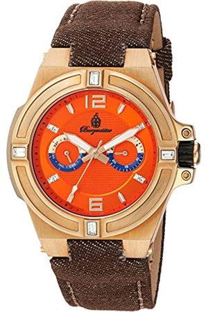 Burgmeister Reloj de Cuarzo Hombre con Esfera analógica Pantalla y Pulsera de Tela y Lienzo BM220 – 390 – 1