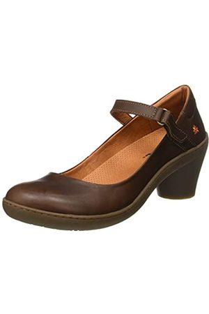 Art Grass-1440 Zapatos de tacón con punta cerrada Mujer, (Brown Brown)