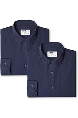 FIND 2 Slim Fit Solid, Camisa de Oficina para Hombre