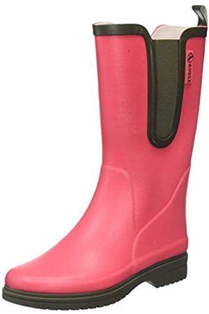 Aigle Egoa, Botas de Agua para Mujer, (Pink Rasberry/Kaki 001)
