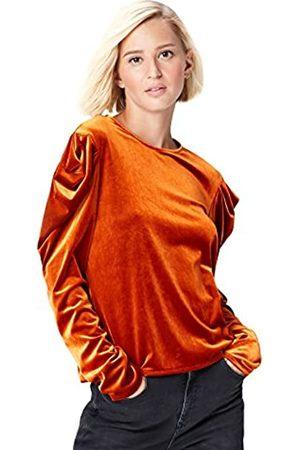 FIND Two Tone Velvet Pleat Sleeve, camisetas mujer fiesta Mujer