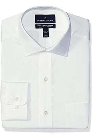 Buttoned Down Classic-Fit Stretch Twill Non-Iron Dress Shirt Shirts