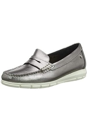 Hush Puppies Paige, Mocasines para Mujer, (Silver Silver)