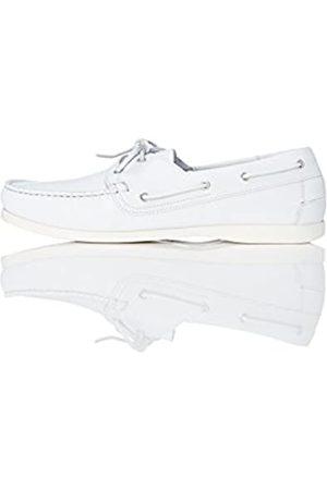 FIND Zapatos Náuticos Hombre, (White)