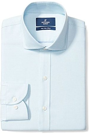 Buttoned Down Slim Fit Cutaway Collar Pattern Camisa