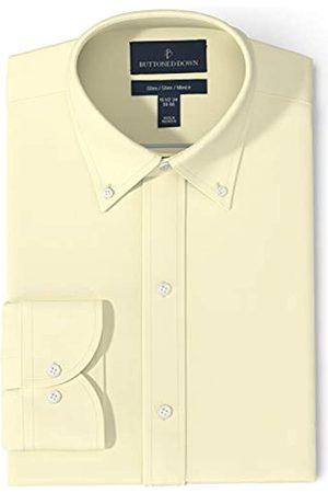 Buttoned Down Marca Amazon - Camisa de Vestir Ajustada con Cuello de Botones Pinpoint sin Plancha dress-shirts