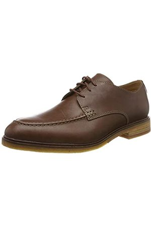 Clarks ClarkdaleApron, Zapatos de Cordones Derby para Hombre, Dark Tan Lea