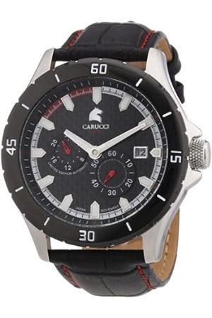 Carucci Watches CA2187RD - Reloj analógico automático para Hombre, Correa de Cuero Color (Agujas luminiscentes
