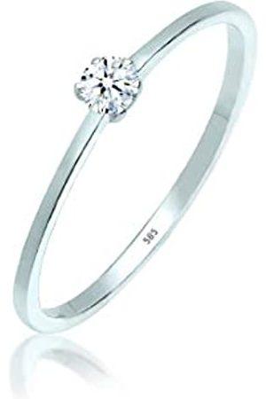 Elli PREMIUM para mujer-RING anillo de compromiso de diamantes de 585 (0