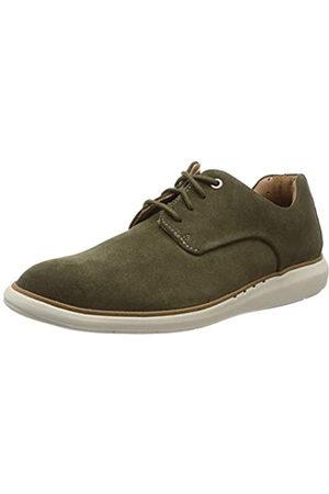 Clarks Un Voyageplain, Zapatos de Cordones Derby para Hombre, (Dark Olive Suede-)