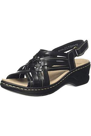 Clarks Lexi Carmen, Sandalias de Talón Abierto para Mujer, (Black Leather Black Leather)
