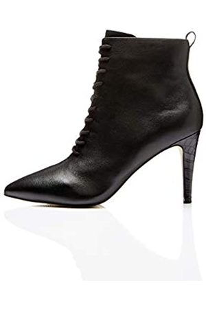 FIND Lace Up Botines, Black