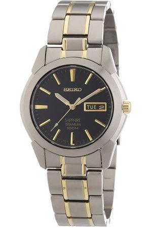 Seiko Reloj Analógico de Cuarzo para Hombre con Correa de Titanio - SGG735P1