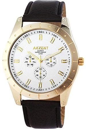 Akzent Reloj Analógico para Hombre de Cuarzo con Correa en Cuero SS7502500008