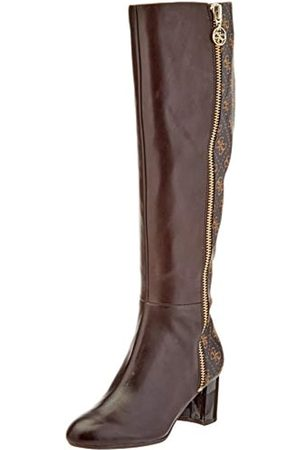 Guess ADDALIZ/Stivale (Boot)/Leather, Botas Altas para Mujer, (Brown Brown)