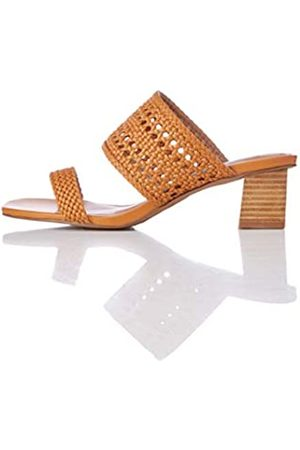 FIND Two Band Woven Sandal Sandalias con Punta Abierta, Brown