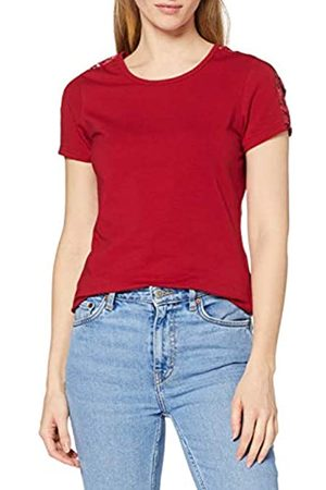 Urban classics T-Shirt Ladies Lace Shoulder Striped tee Oberteil Camiseta