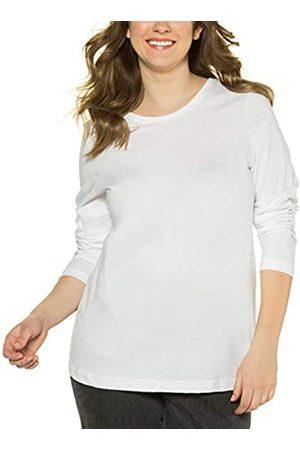 Ulla Popken Basic Langarmshirt Rundhals, Camiseta de Manga Larga para Mujer