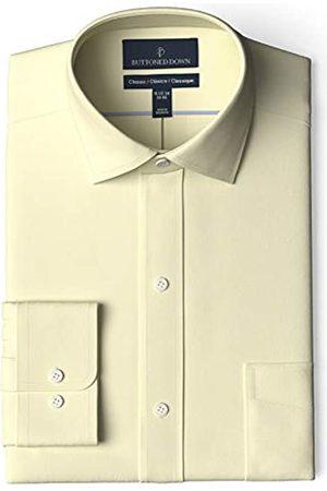 Buttoned Down Marca Amazon - Camisa de Vestir sin Planchar, Ajuste clásico, Cuello esparcido dress-shirts