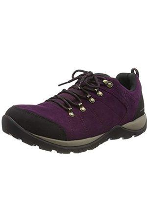 Columbia Fire Venture S II WP, Zapatos de Senderismo Impermeables para Mujer, Morado (Black Cherry, W 639)