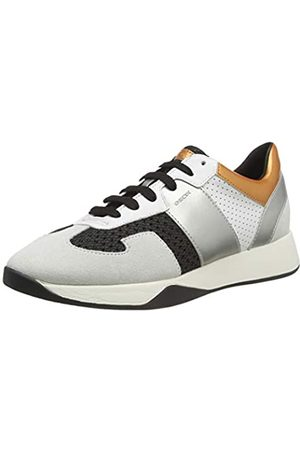Geox D Suzzie B, Zapatillas para Mujer, Marfil (Black/Off White C9876)
