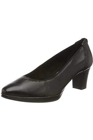 Tamaris 1-1-22446-24 Leder, Zapatos de Tacón para Mujer, (Black 1)