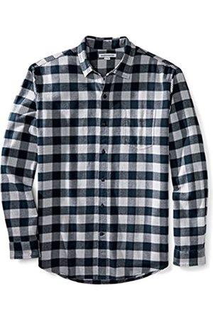 Amazon Camisa de franela a cuadros de manga larga y ajuste regular para hombre